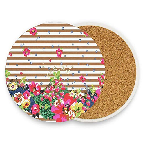 Flower Spring Coasters, Protect Your Furniture From Stains,Coffee,