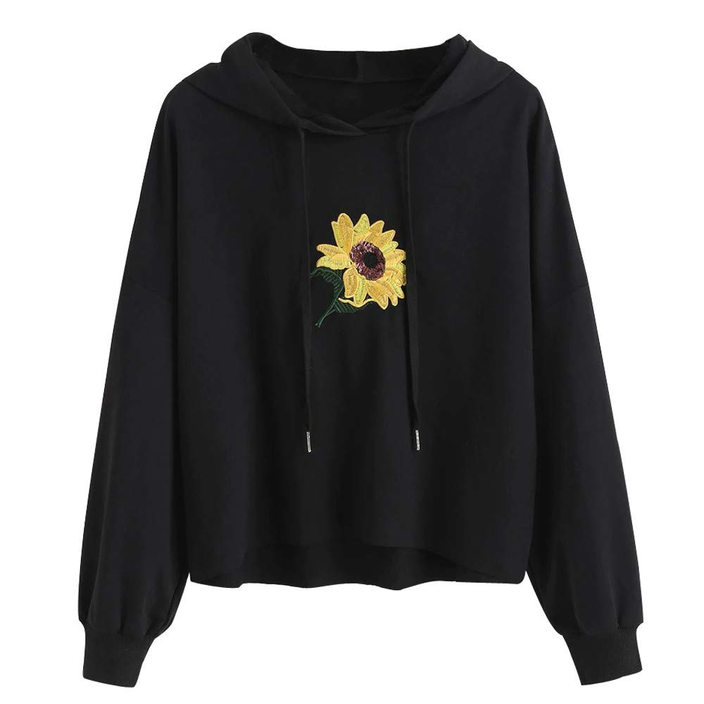 St.Dona Fashion Womens Pullover Hoodie,Women Casual Embroidery Long Sleeve Sweatshirt Hooded Tops