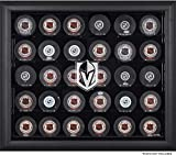 30 puck display case - Sports Memorabilia Vegas Golden Knights 30-Puck Black Display Case - Hockey Puck Free Standing Display Cases