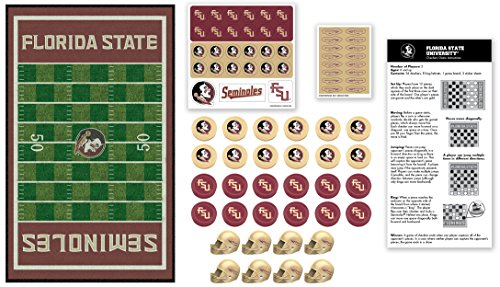 MasterPieces Collegiate Florida State Checkers Game (University Florida Of Helmet Football)