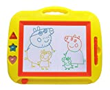 Magnetic Drawing Board Toy,Portable Travel Doodle Sketch Writing Erasable Pad,Educational Learning Toy for Kids Toddler Boy Girl with 3 Stamps and 1 Pen, 13.7x11.4 inches