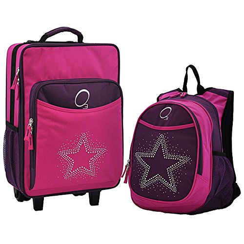 obersee-kids-famous-rhinestone-star-2-piece-backpack-and-carry-on-upright-luggage-set
