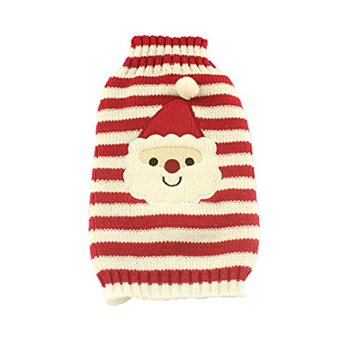 Christmas Striped Knit Dog Sweater Dogs Festival Sweaters (XS)