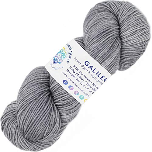 Living Dreams Yarn Galilea. Colorful Superwash Merino Sock Yarn. Super Soft and Strong. Hand Dyed to Perfection: Mercury