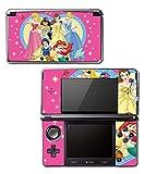Princess Friends Pink Cinderella Snow White Ariel Jasmine Belle Video Game Vinyl Decal Skin Sticker Cover for Original Nintendo 3DS System