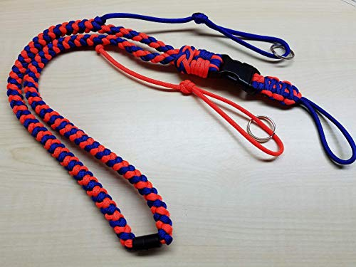 - Paracord hunting lanyard w/optional neck breakaway, buckle & keyring - whistle - gps - USA - KnottyCordCreations