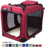 EliteField 3-Door Folding Soft Dog Crate, Indoor & Outdoor Pet Home,...