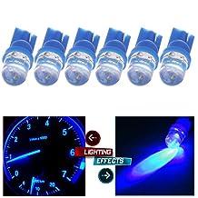 CCIYU 6 Pack Blue T10 W5W Wedge 168 194 LED Bulb Dome Light Map Light Mirror/Vanity Sunvisor Light for 2009-2015 Toyota Venza