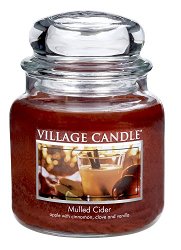 Medium Scented Jar (Village Candle Mulled Cider 16 oz Glass Jar Scented Candle, Medium)