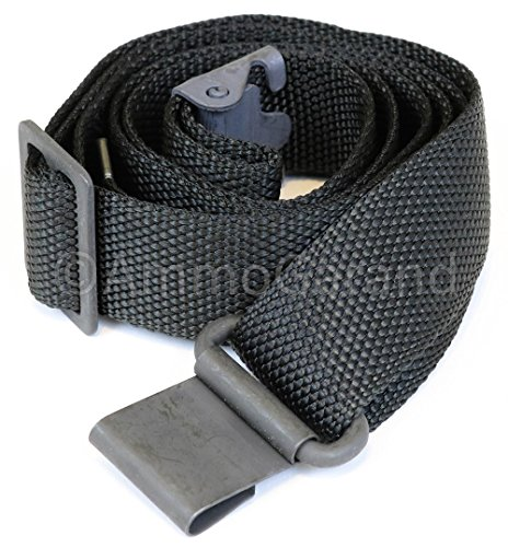 AmmoGarand M1 Garand Two Point Rifle Sling Nylon Black Web US Gov't - Rifle Nylon Sling