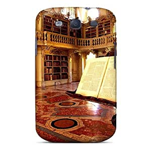 Unique Design Galaxy S3 Durable Tpu Case Cover World Renowned Library