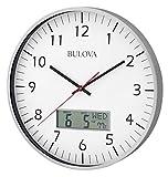 (US) Bulova Manager Wall Clock, White