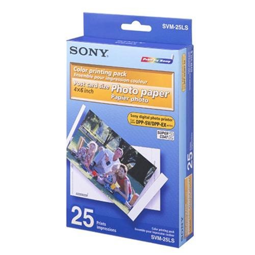Printing Pack, Cartridge and Postcard Size Photo Paper (Sony Color Print Pack)