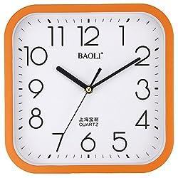 dvsdfvsdvf wall clock bracket clock System clock horologe horologium quartz clock crystalwall clock bracket clock crystal SystemDual-use mute's sleek/minimalist clock-C 10inch