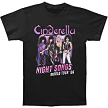 American Classics Cinderella Rock Band Night Songs Tour Black 2-Sided Adult T-Shirt Tee