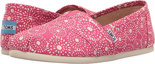 TOMS Seasonal Classics Fuchsia Shibori Dots Womens Slip on Shoes (Shibori Dots)
