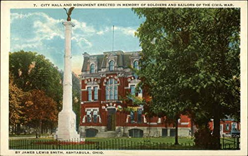 (City Hall and Monument erected in memory of soldiers and sailors of the Civil War Original Vintage Postcard)