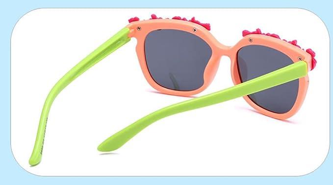 Zeroting Gafas de Sol con Marco de Flores para niñas: Amazon ...