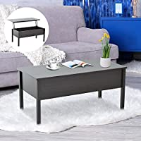 HomCom Lift Top Storage Coffee Table - Coffee Brown