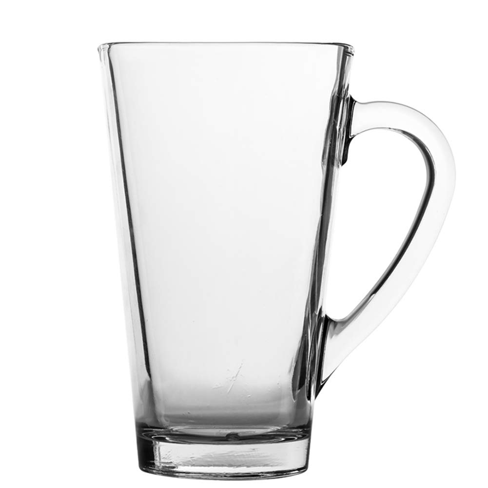 RHH Large-Capacity Water Cup Lead-Free Glass Transparent Glass Comfortable Handle High Temperature Simple and Generous Fashion Work Delicate by RHH