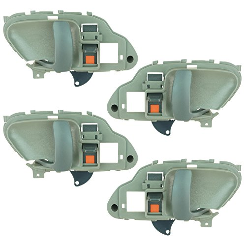 Door Handles Interior Gray Front Rear Kit Set of 4 for Chevy GMC Suburban Tahoe (Door Front Suburban Handle K2500)