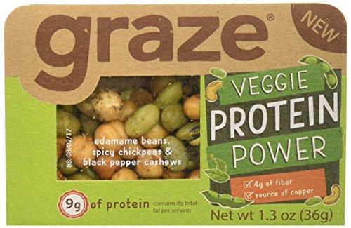 Graze Natural Veggie Protein Power Snack Mix with Spicy C...