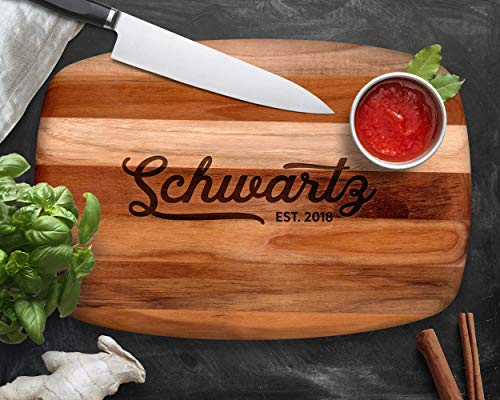Personalized Cutting Board, Teak Wood, Personalized Wedding Gifts, Cheese Board, Engraved Gifts