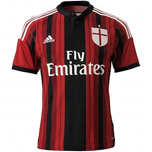 adidas Soccer AC Milan Home Player Jersey Youth. (X-Large)