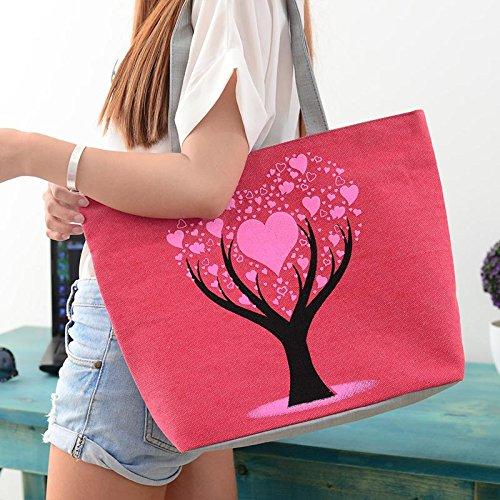 gusto de lindas de lona de los buen la del amor de bolso muy escuela la muchachas las Mujer Rojo bolso bolsos de Árbol de bolsos del Hrph de wAqgPqS