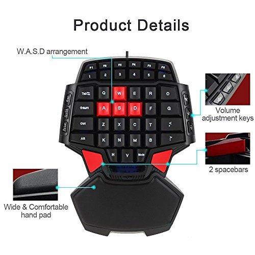 PinPle-Keybaord-One-Handed-Keyboard-Portable-Mini-Gaming-Keypad-Ergonomic-Game-Controller-for-LOLWowDota