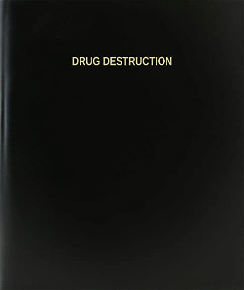 amazon com bookfactory drug destruction log book journal