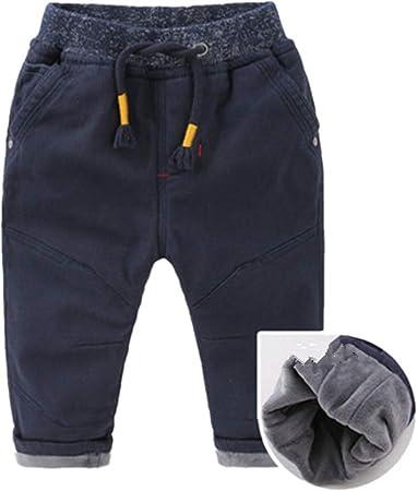 Cintura elástica Informal para niños Pantalones de chándal de algodón Pantalones de Jogger de Cintura Ajustable Pantalones (Color : Azul, tamaño : 95): Amazon.es: Hogar