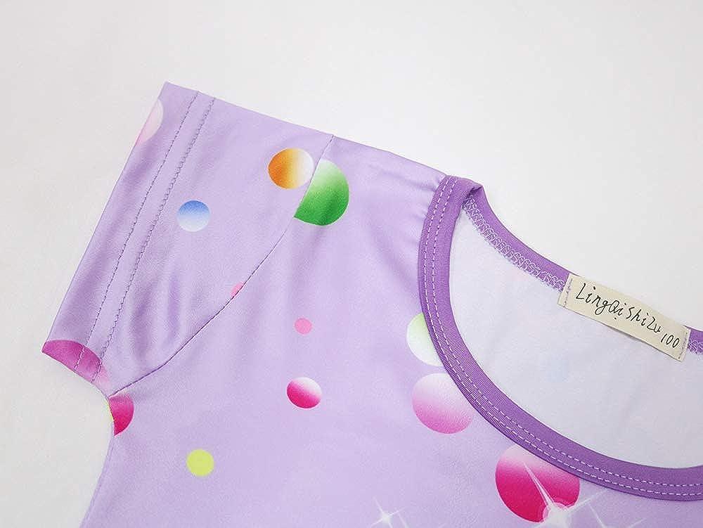 AOVCLKID Little Girls Princess Pajamas Toddler Nightgown Dress