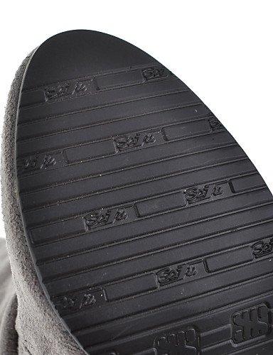 Cn39 Casual Xzz Moda Marrón Negro Mujer Punta us8 us8 Gris Cn Sintético Eu39 Vestido La Stiletto Brown Ante A Tacón Botas Redonda De Gray Zapatos Uk6 xf7pF