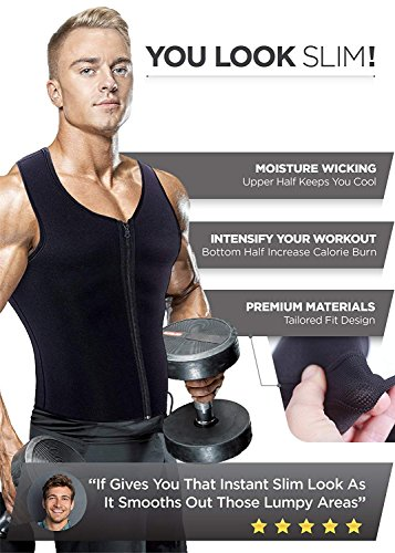 bb5d56b0ad  Newest Effective  Mens Waist Trainer Vest for Weightloss Hot Neoprene  Corset Body Shaper Zipper