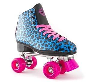 Rio Roller Chic Rollschuhe für Erwachsene Quad Skates blau Leopard Look...