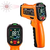 ES6530B Non-Contact Digital Laser IR Infrared Thermometer Temperature Gun for Kitchen Cooking BBQ Automotive Industrial, -58℉ - 1022℉ (-50℃ to 550℃) with HD Backlight LCD Display Accuracy Reading