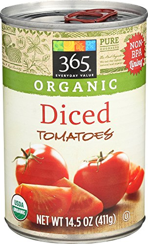 365 Everyday Value, Organic Diced Tomatoes, 14.5 Ounce