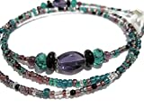Purple and Teal Mix Beaded Eyeglass Holder - Glasses Chain - Eyeglass Lanyard