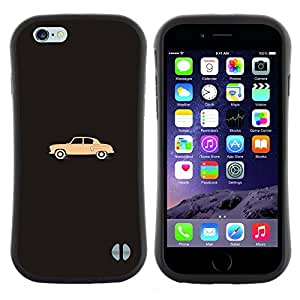 "Hypernova Slim Fit Dual Barniz Protector Caso Case Funda Para Apple (5.5 inches!!!) iPhone 6 Plus / 6S Plus ( 5.5 ) [Minimalista Art Dibujo Gray""]"