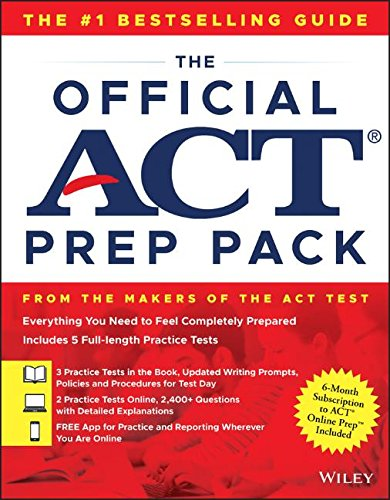 The Official ACT Prep Pack with 5 Full Practice Tests (3 in Official ACT Prep Guide + 2 Online) cover