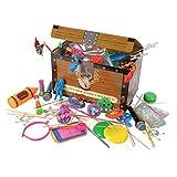 Toy Assortment Box – 100 pieces per box – Treasure Chest - Birthday Party Bag Prizes – Kids Toys – Halloween Treats