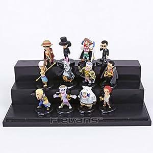 Anime One Piece 12pcs/set Luffy Sabo Shanks Lucci Crocodile Moria Buggy Enel PVC Figures Collectible Model Toys 5cm