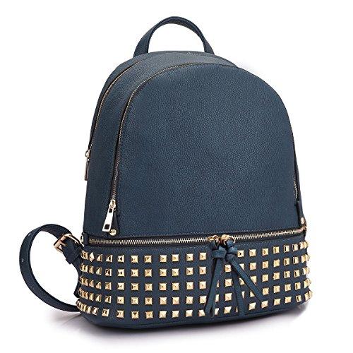Dasein Women's Leather Backpack Casual Purse School Shoulder Bag Handbag Dayback