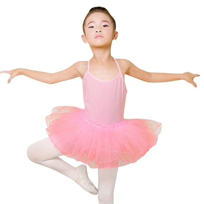 21c71caa88aa Amazon.com  Freshzone Kids Girls Colorful Ballet Dress Tutu Leotard ...