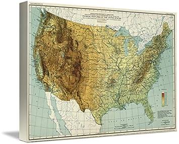 Amazon.com: Imagekind Wall Art Print Entitled Vintage United States ...