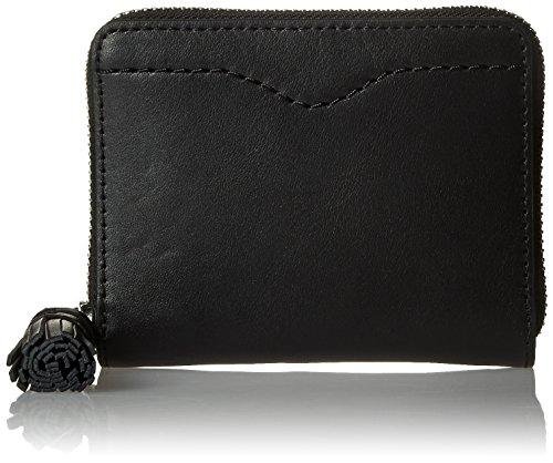 Mini Wallet With Tassel Wallet, BLACK, One Size