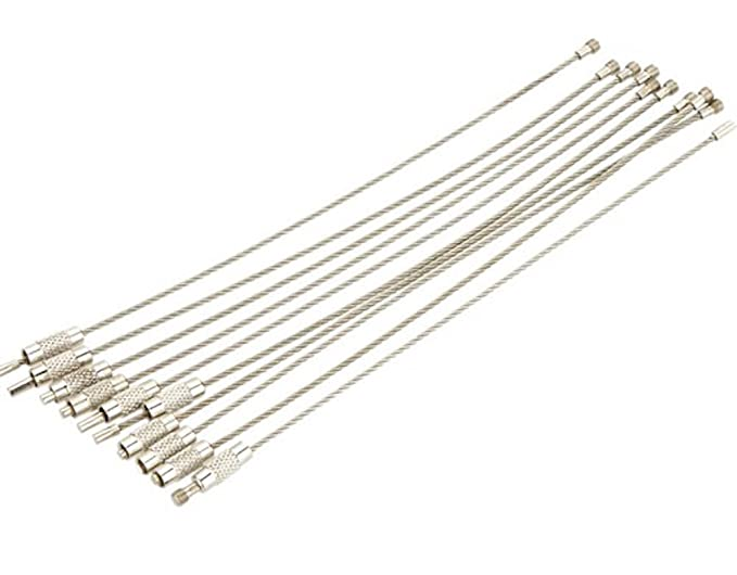 1 opinioni per Demiawaking- Portachiavi, filo metallico in acciaio INOX, adatto per attività