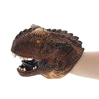 DANNTARA Dinosaur Realistic Soft Hand Puppet Toy for Kids - Raptor, T-rex, Triceratops, Carnotaurus, Dilophosaurus, Spinosaurus (Carnotaurus): Toys & Games