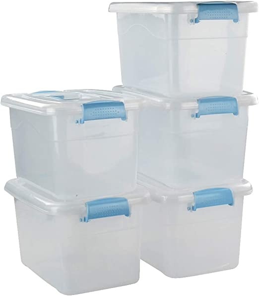 Ucake Grande Caja de Almacenaje Plástico con Tapa, Transparente ...